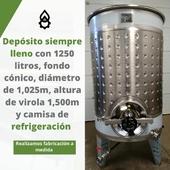 En nuestra Fábrica Inox fabricamos a medida. 📐 👉 Este depósito siempre lleno cuenta con 1.250 litros, fondo cónico, diámetro de 1,025m, altura de virola 1.500m y camisa de refrigeración. . . . #fabricadeinox #inoxidable #amedida #Proyectos #ProyectosProdel #depositos #agroalimentacion